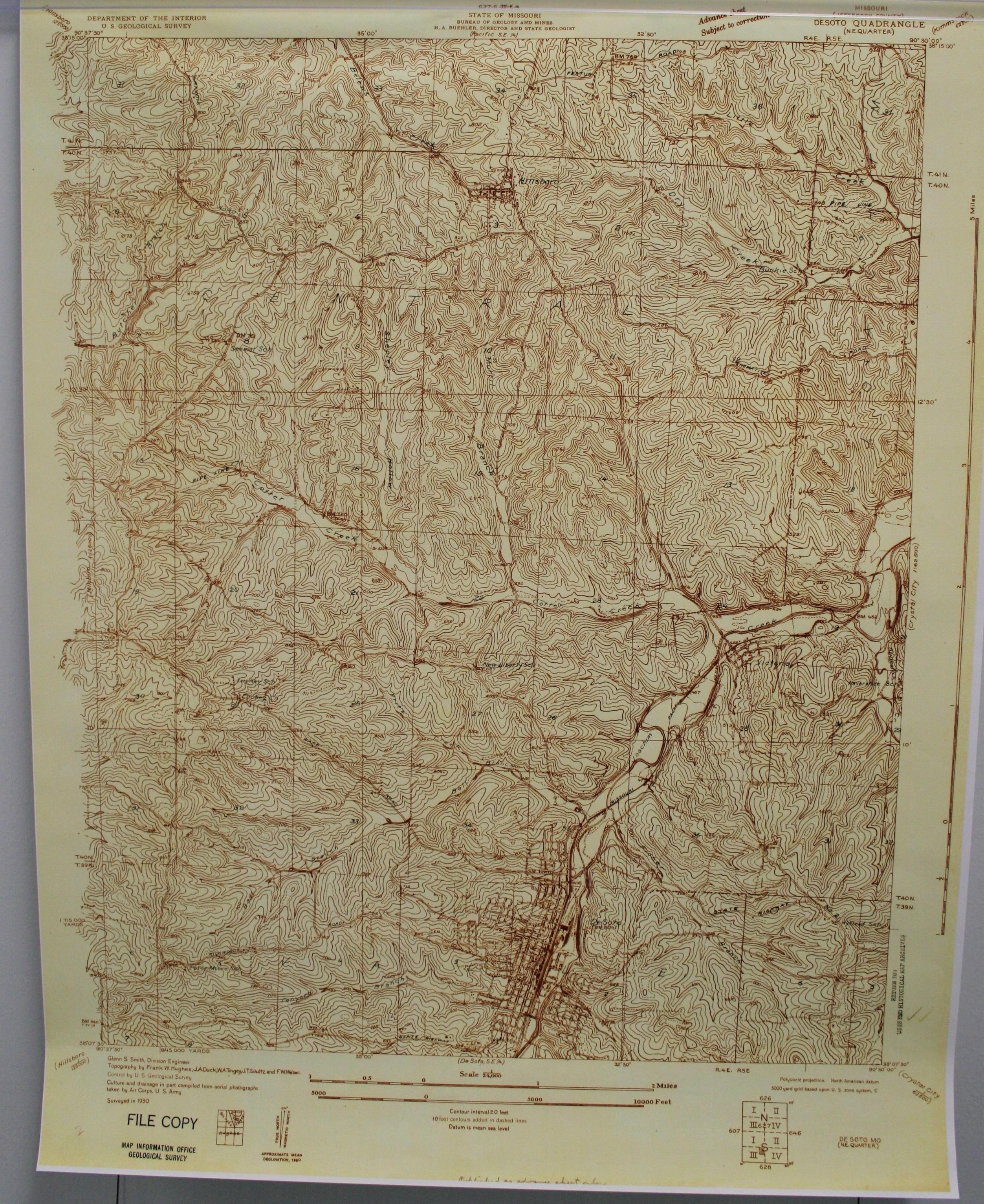 Image of map of De Soto 1930