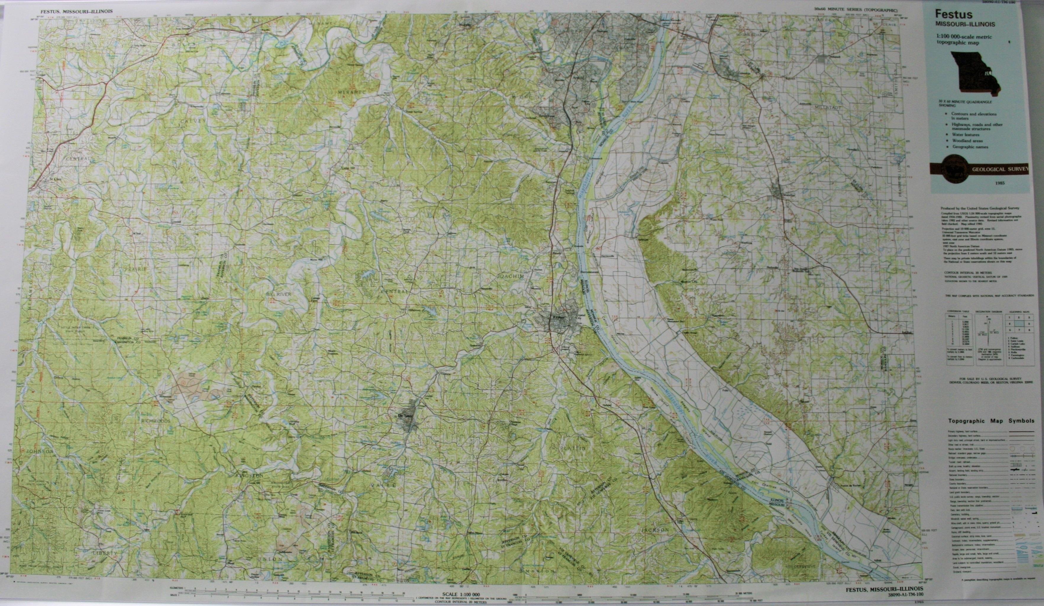 USGS Festus Map 1985