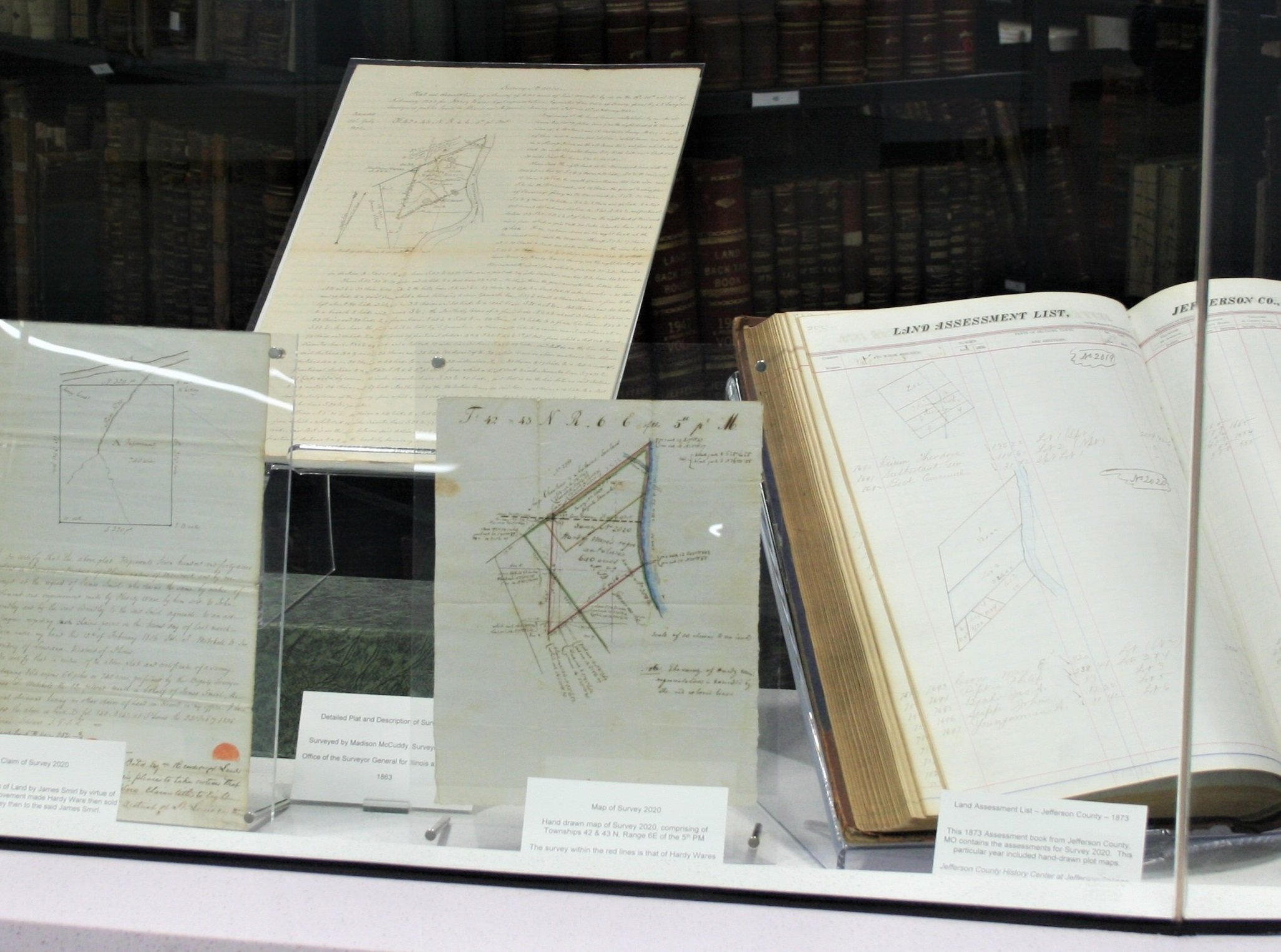 Image of exhibitsurvey 2020 map and texts