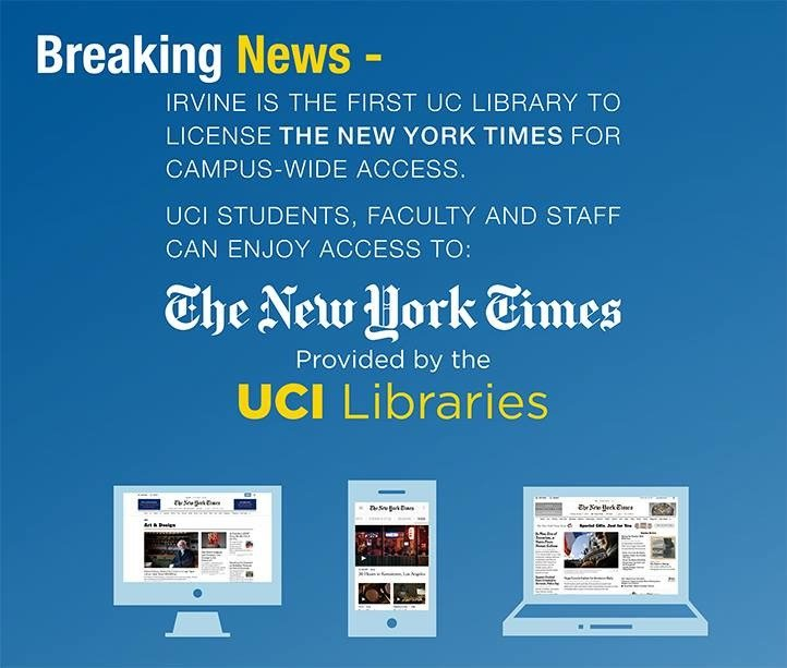 The New York Times provided by the UCI Libraries
