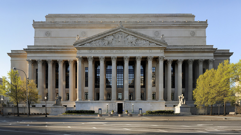 The National Archives Building in Washington, D.C.