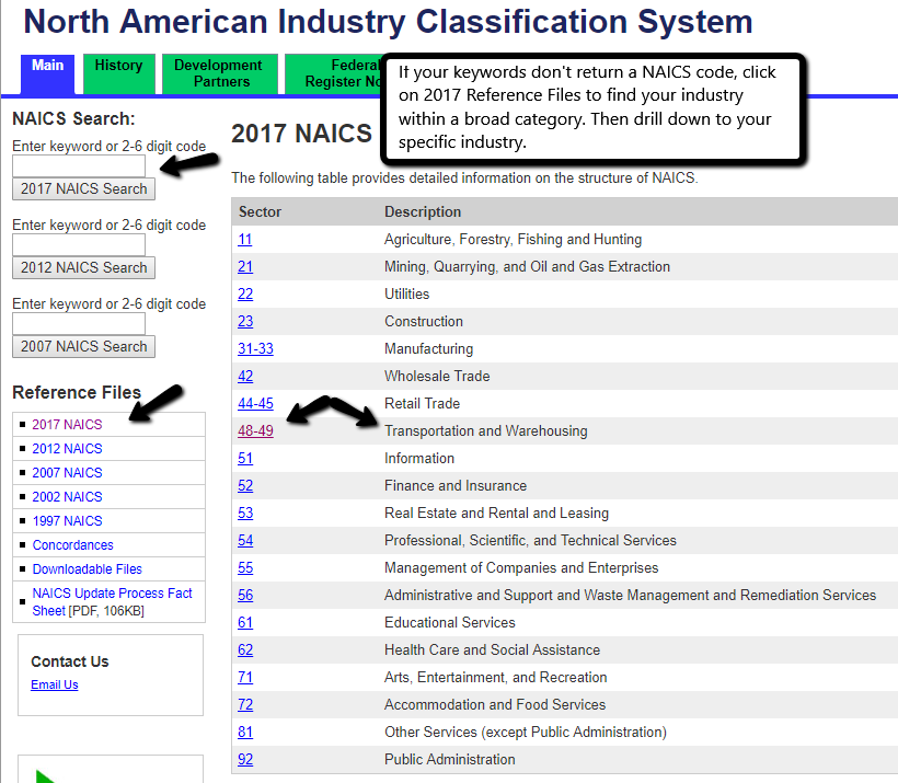 NAICS - find an industry