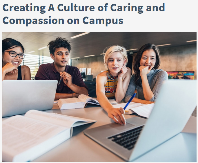 chronicle of higher ed - a culture of caring on campus
