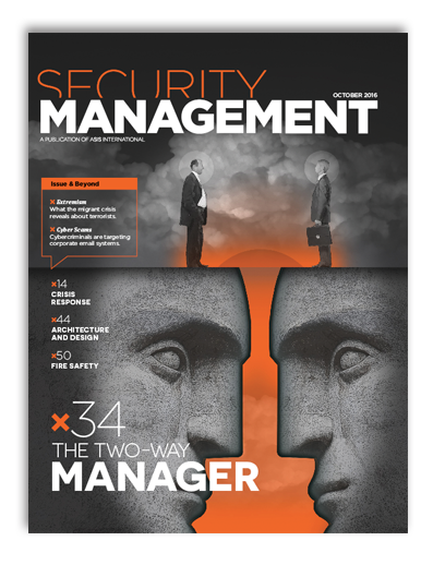 professional journal: security management
