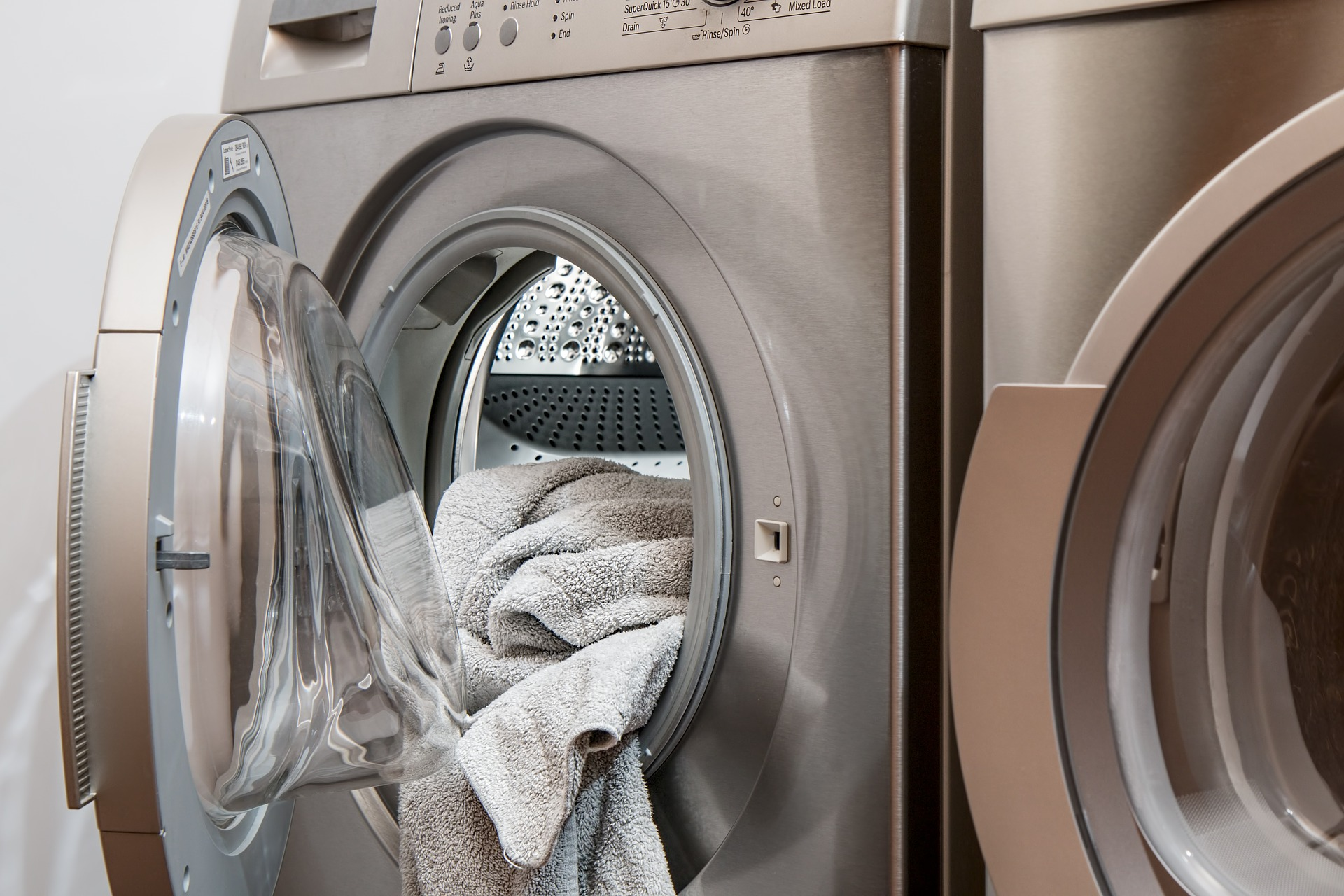 laundry machines with sweatshirt inside