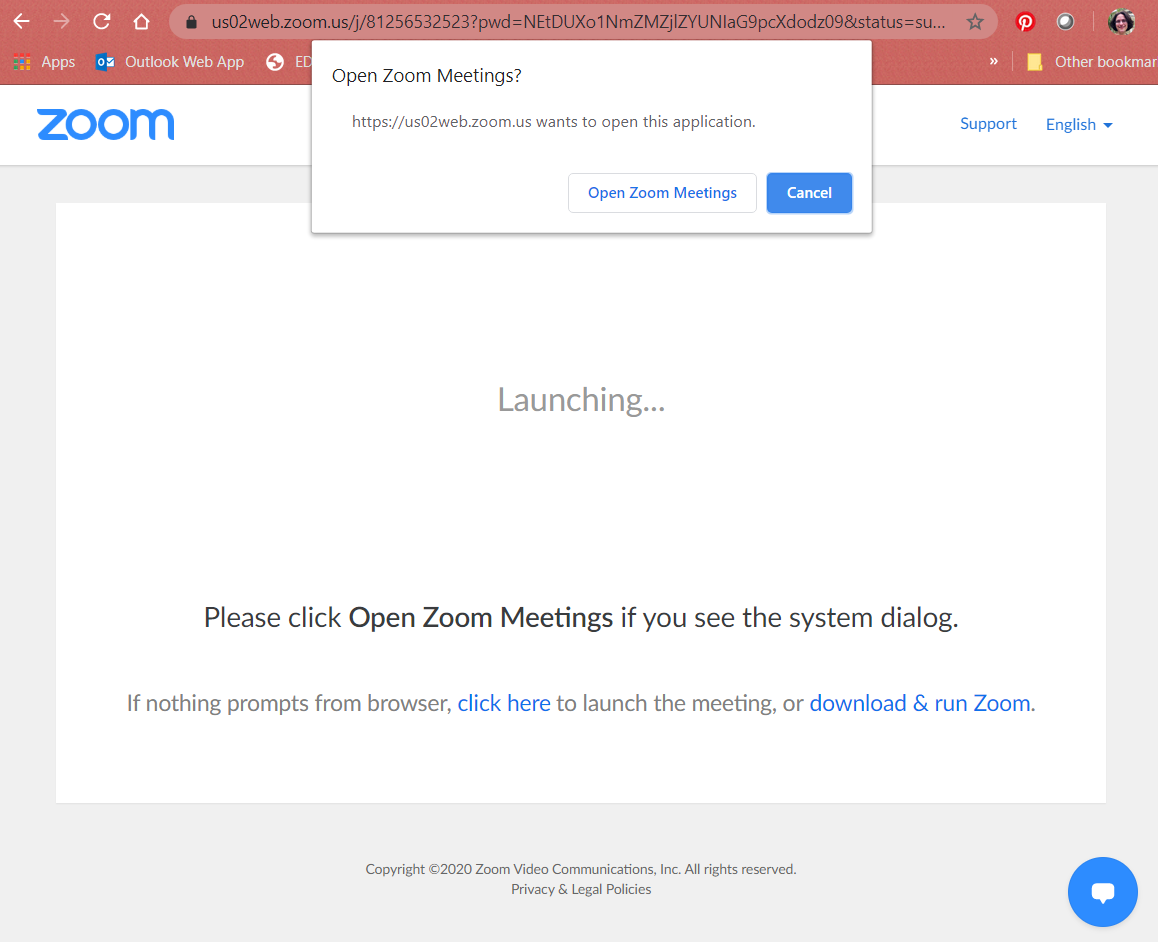 Open Zoom Meetings