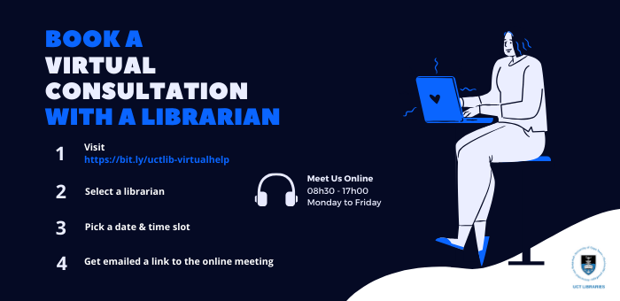 Book a virtual consultation with a librarian