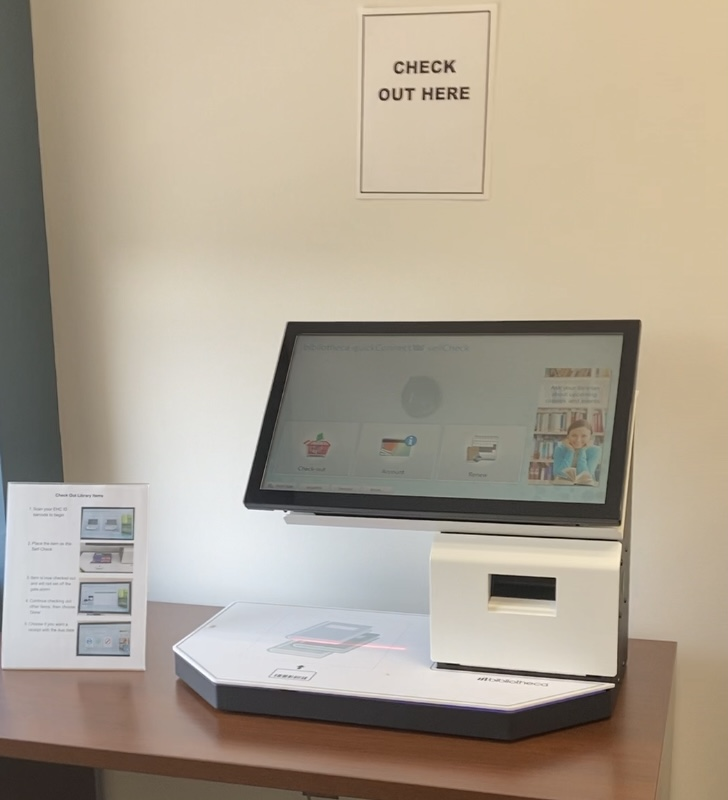 School of Health Sciences Library self-checkout