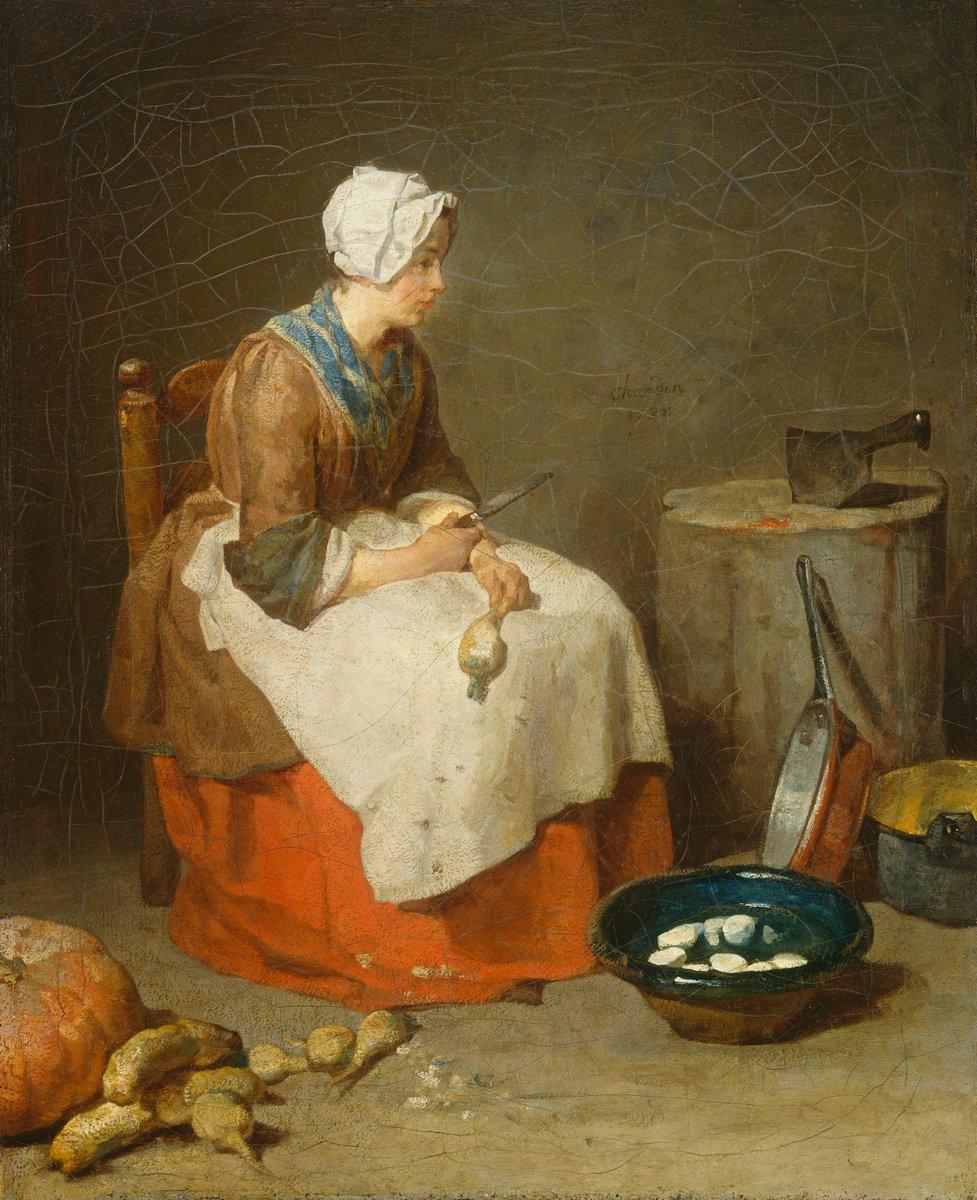 Jean Siméon Chardin - The Kitchen Maid
