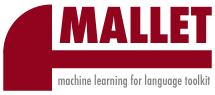MALLET Logo with a red hammer shape and Red lettering above spelling Mallet.