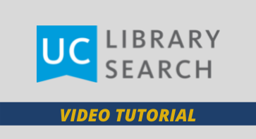 UC LIBRARY SEARCH VIDEO TUTORIAL