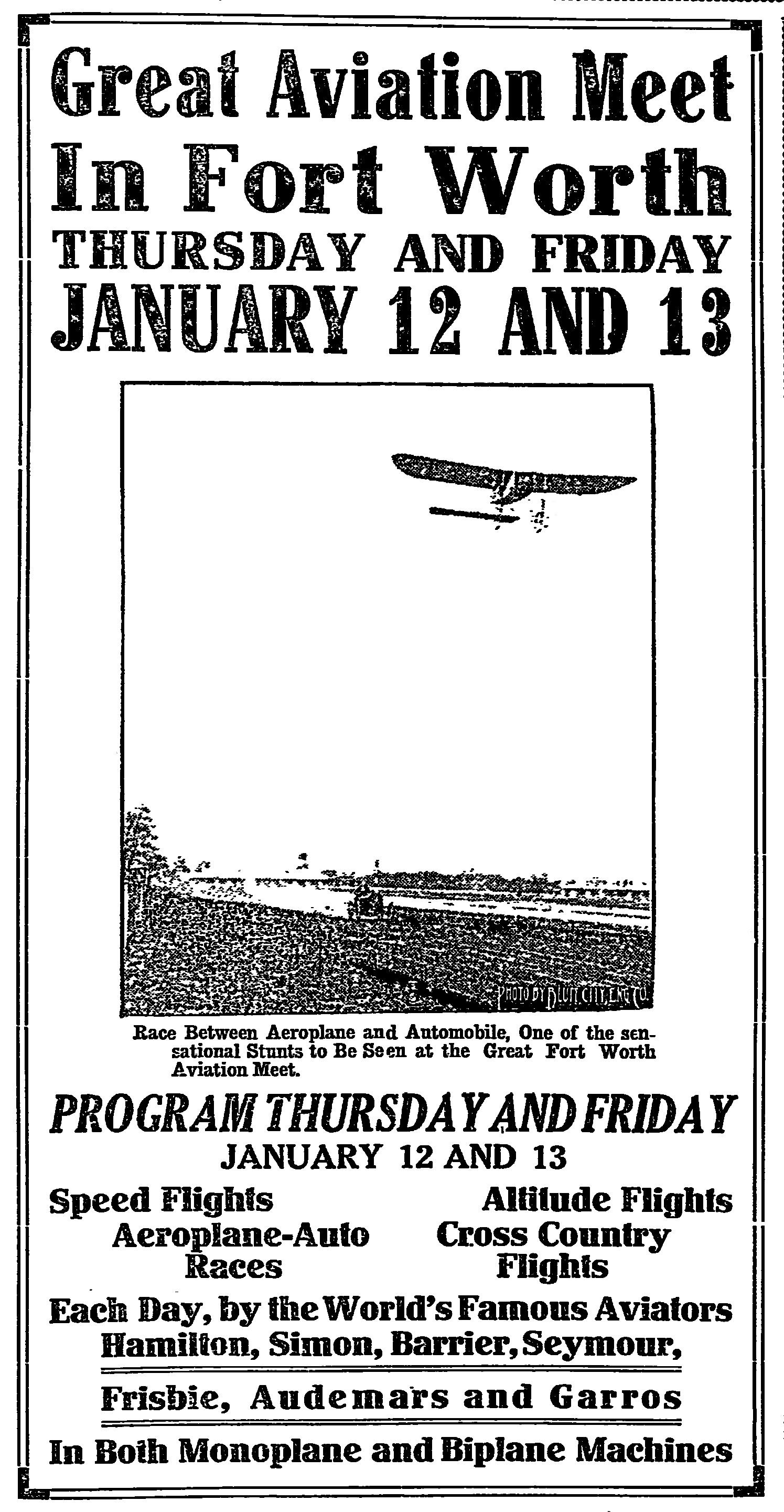 Fort Worth Aviation Show 1911