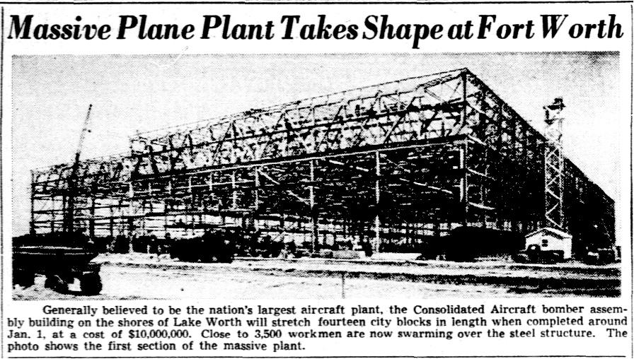 Fort worth Bomber Plant construction