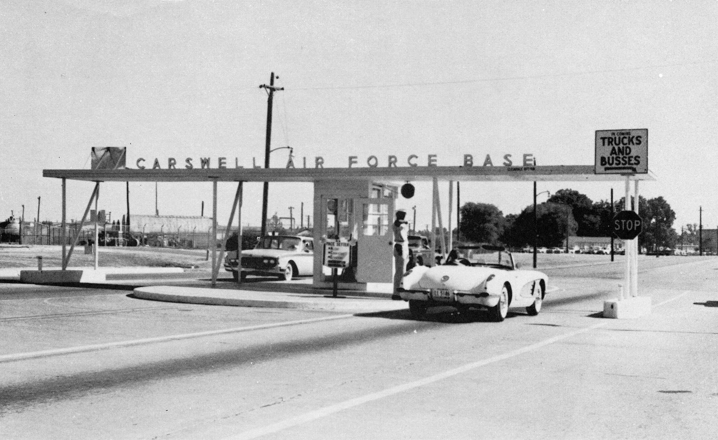 Carswell Air Force Base main entrance 1960s