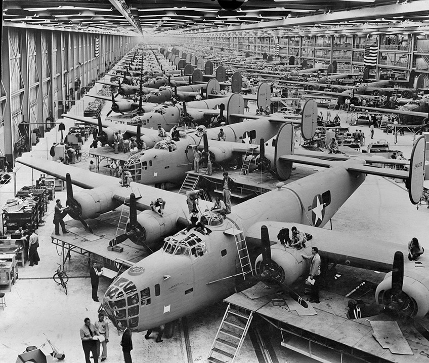 B-24 Assembly Line Fort Worth 1942