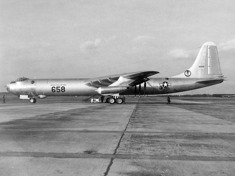 B-36 on runway For Worth