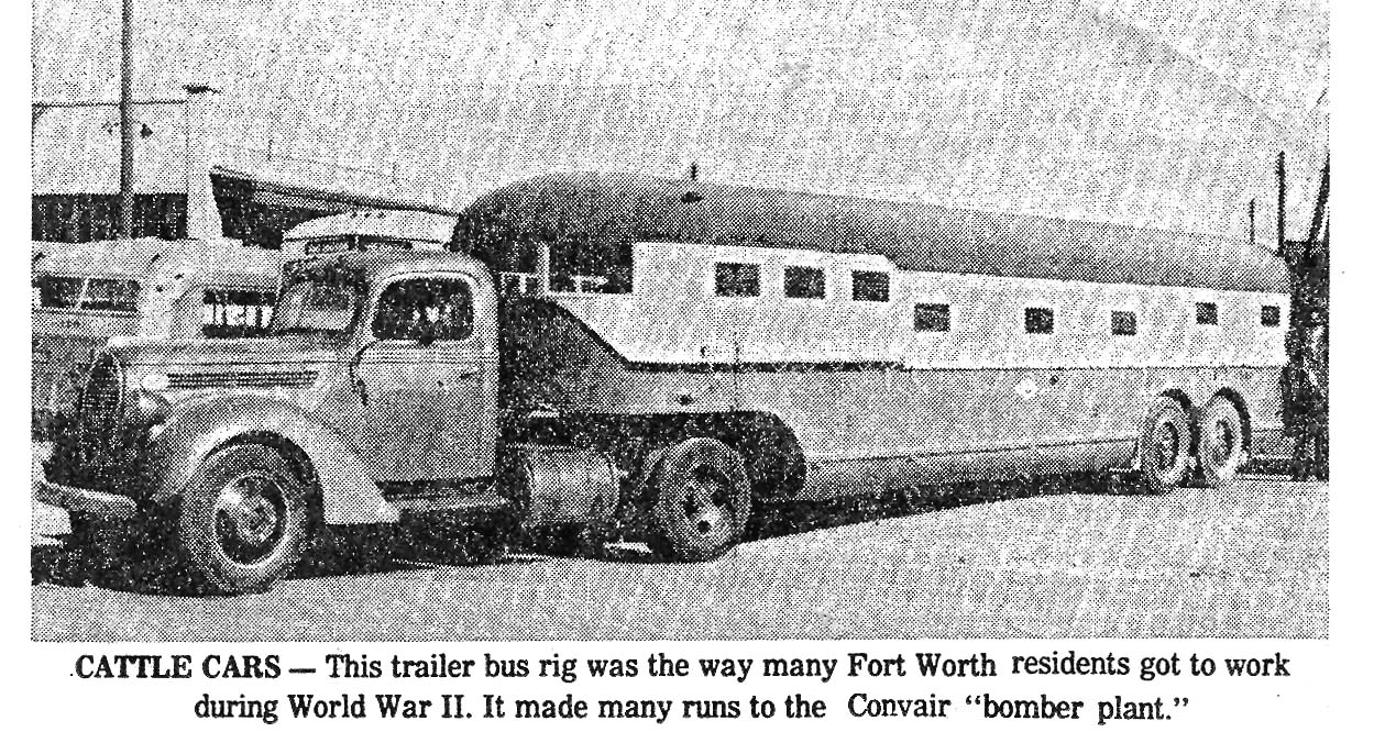 Convair  Cattle Car Bus used to transport workers