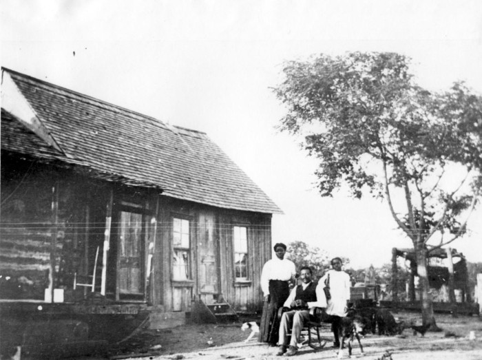 Robert and Sallie Johnson in front of their Mosier Valley home.