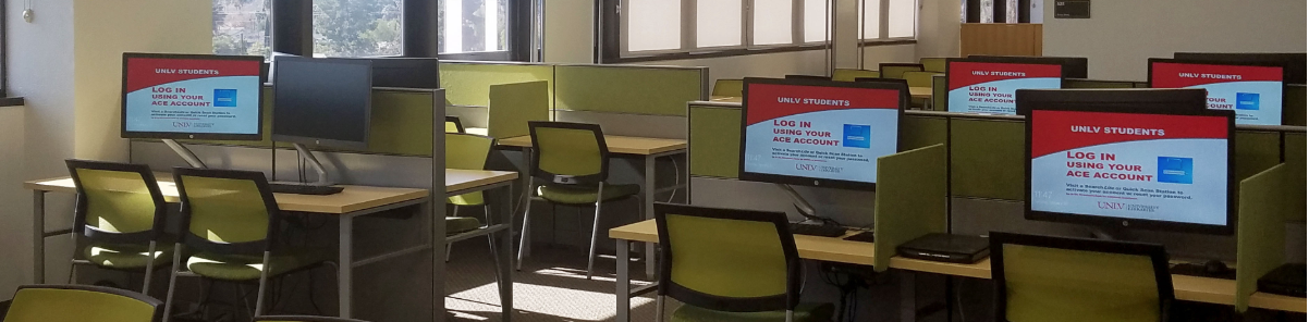 Photo of UNLV Health Sciences Library below welcome text.