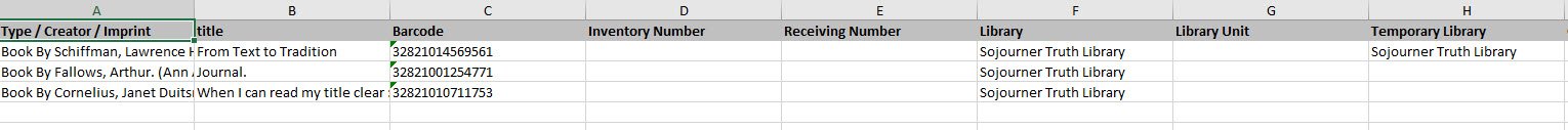 """Excel Results For """"Items on shelf but out of range/set"""""""