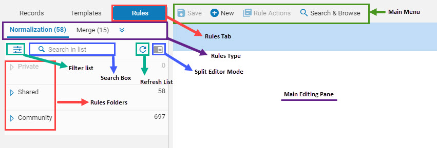 Navigating Rules Functionality in the MD Editor