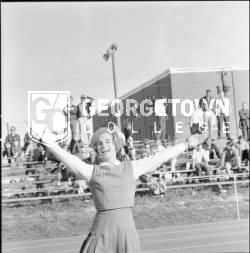 Cheerleading; Uniforms; Bleachers; Hood, Nancy Jane Juett