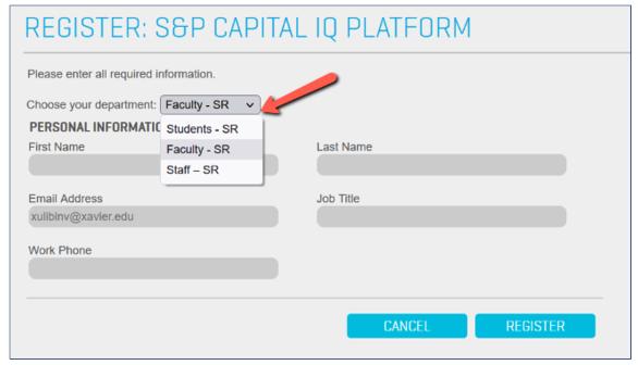 Register: S&P Capital IQ Platform
