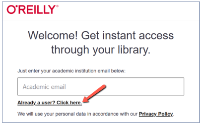 Already a user? Click here