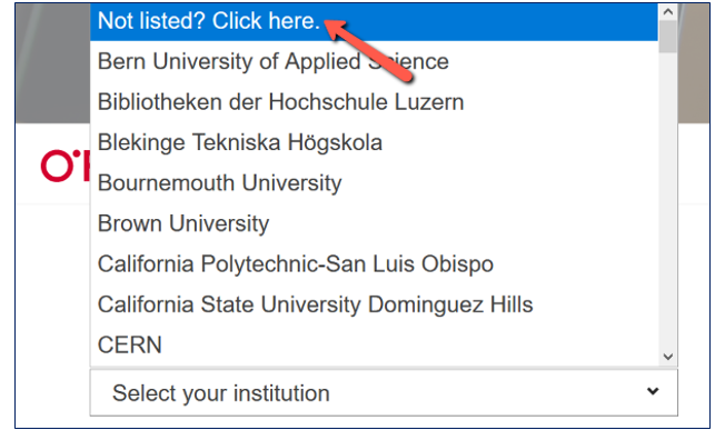 Not listed? Click here.