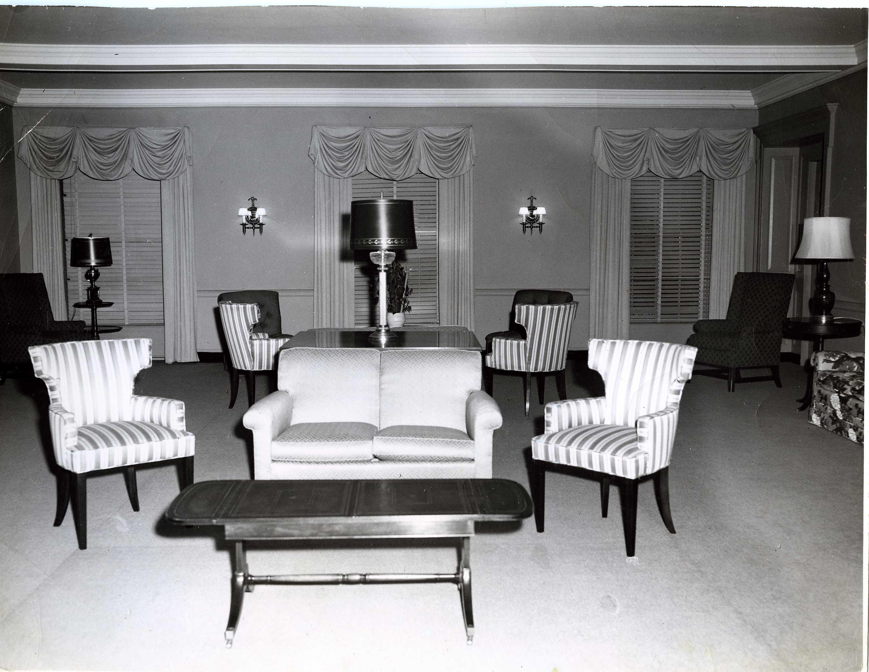 Mezzanine, now the Regina Peruggi Room, 1950