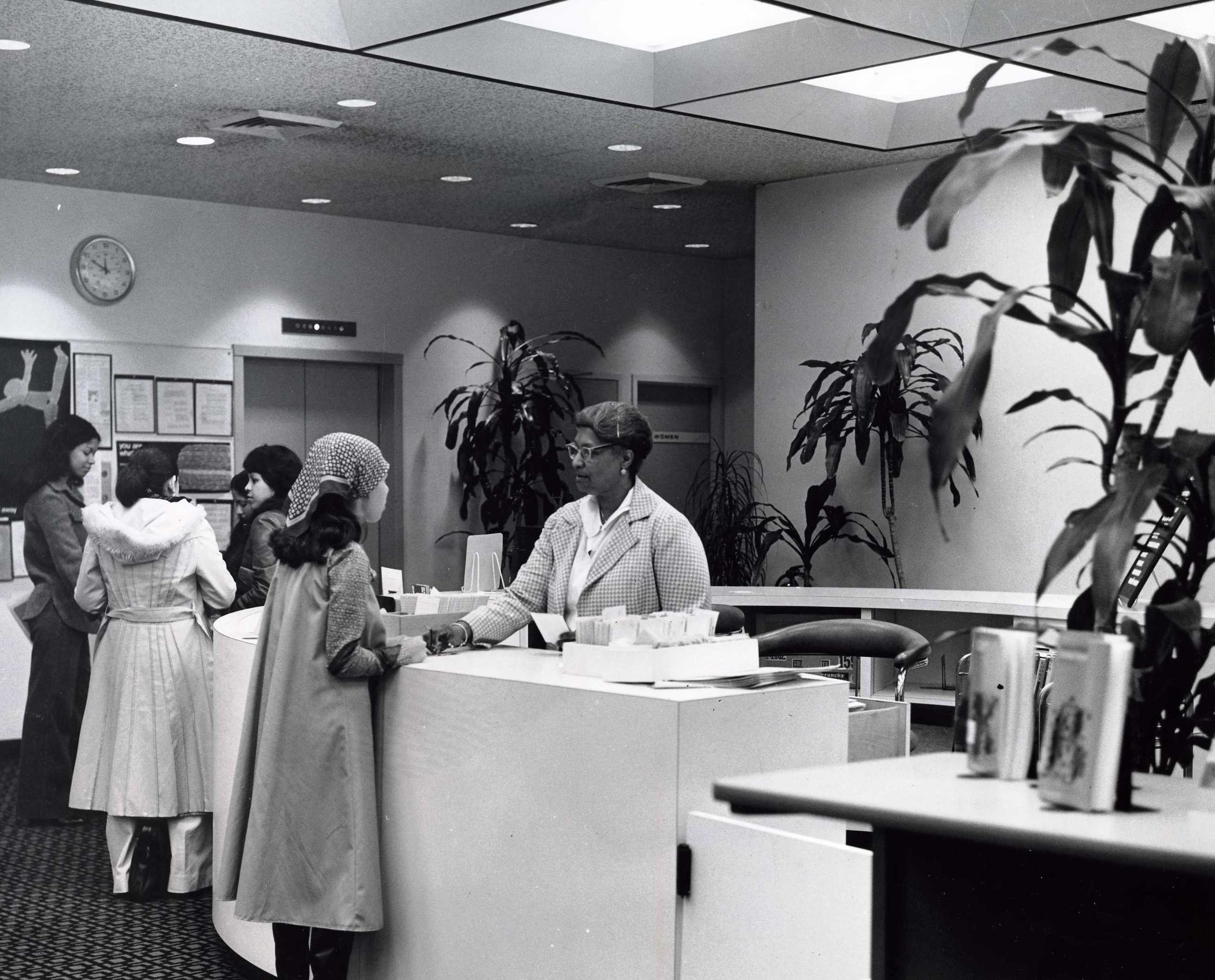 Enid George, Circulation Manager, 1974