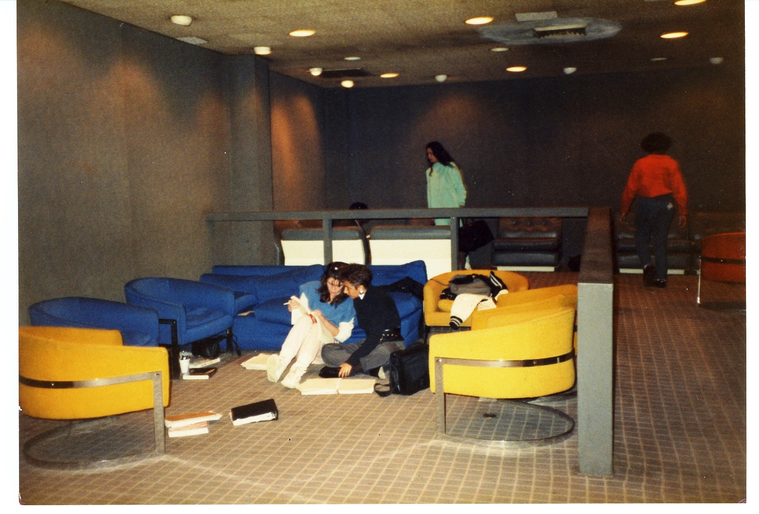Students in Nugent Lounge in 1976