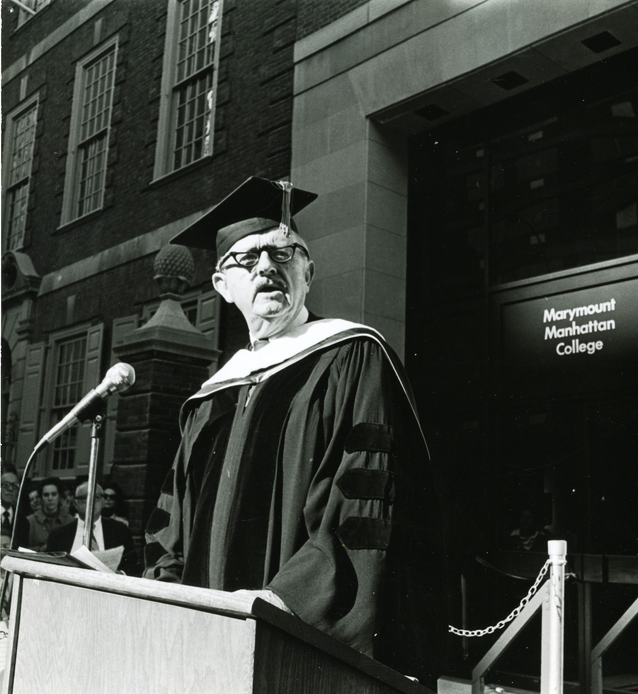 Joseph C. Nugent, Sr., speaking at the dedication of the building named for him.