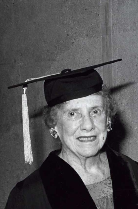 Ruth Smadbeck receiving an honorary degree from MMC in 1983