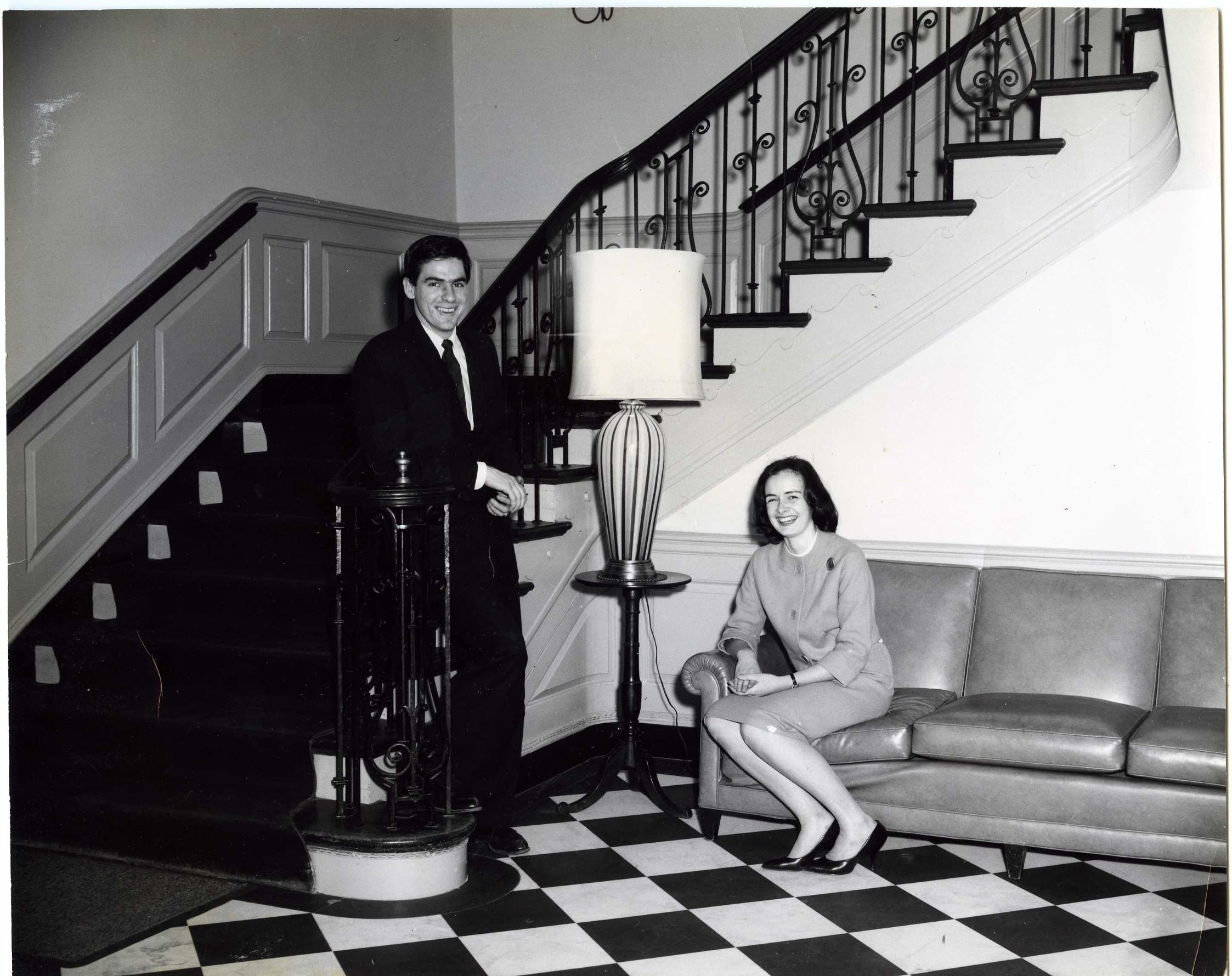 Couple posing in the Black-and-White, undated