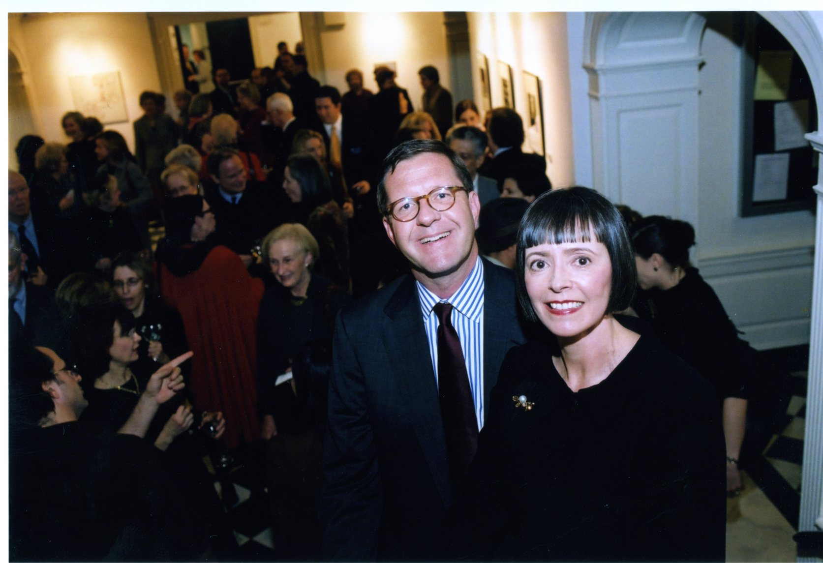 Carl and Marsha Hewitt at opening of gallery they donated, November 18, 2004