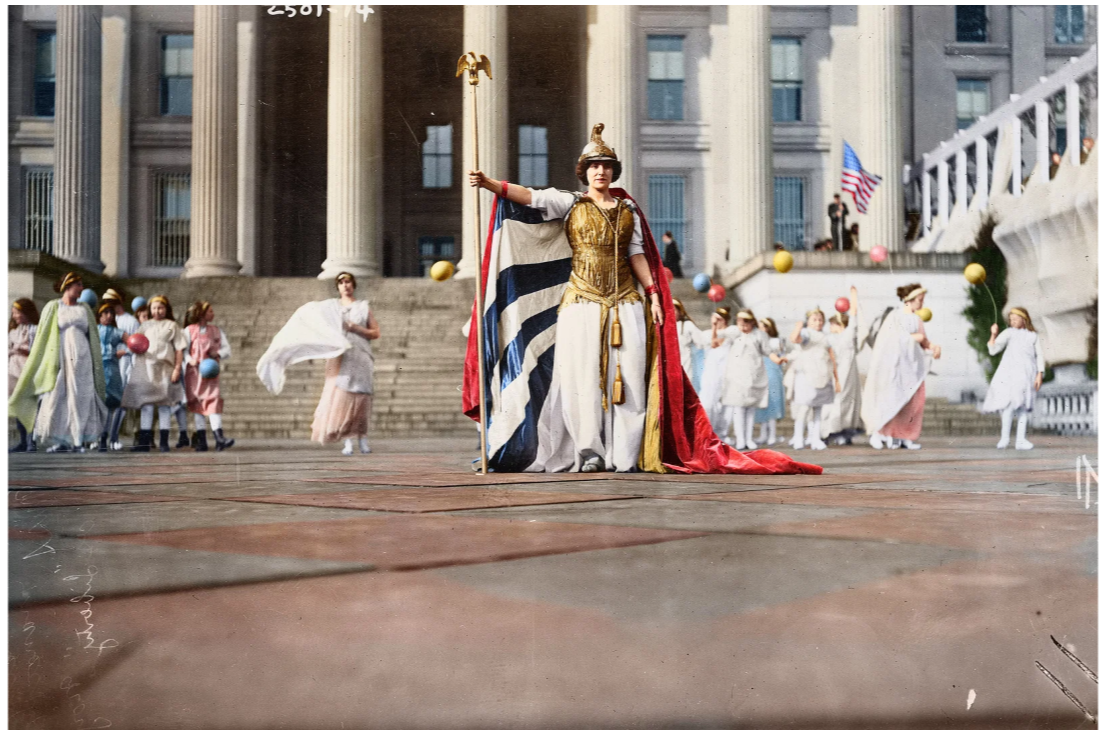 Hedwig Reicher as Columbia Mar.3.1913 Suffrage Parade in DC