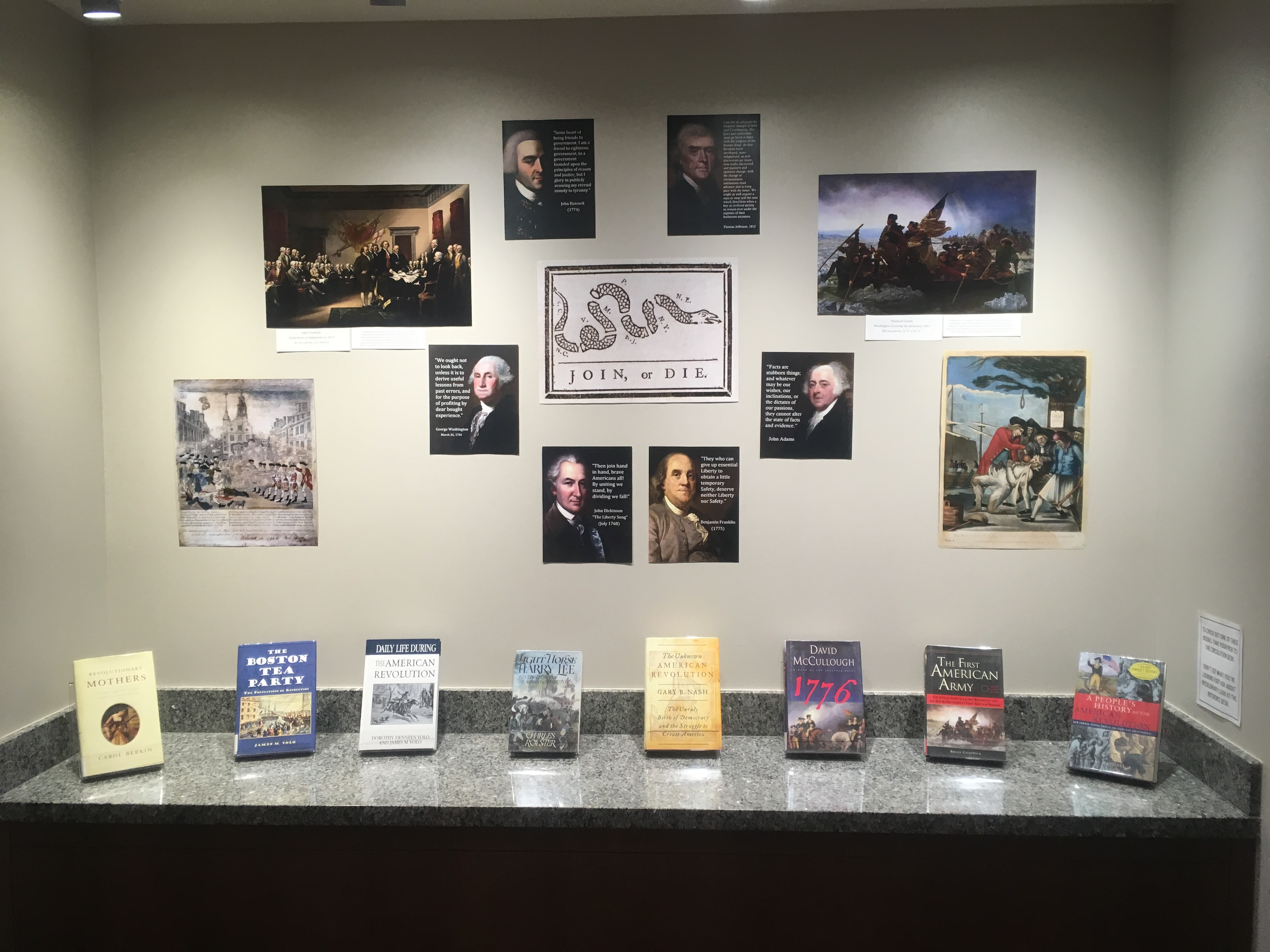 Our Revolutionary Book Display
