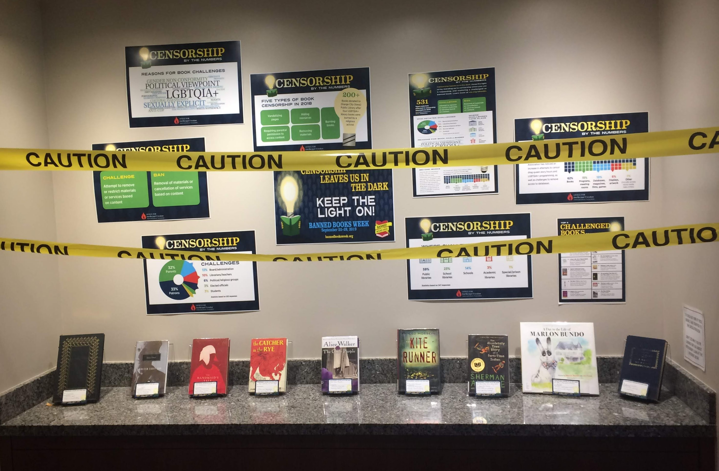Rose State College Banned Book Display 2019