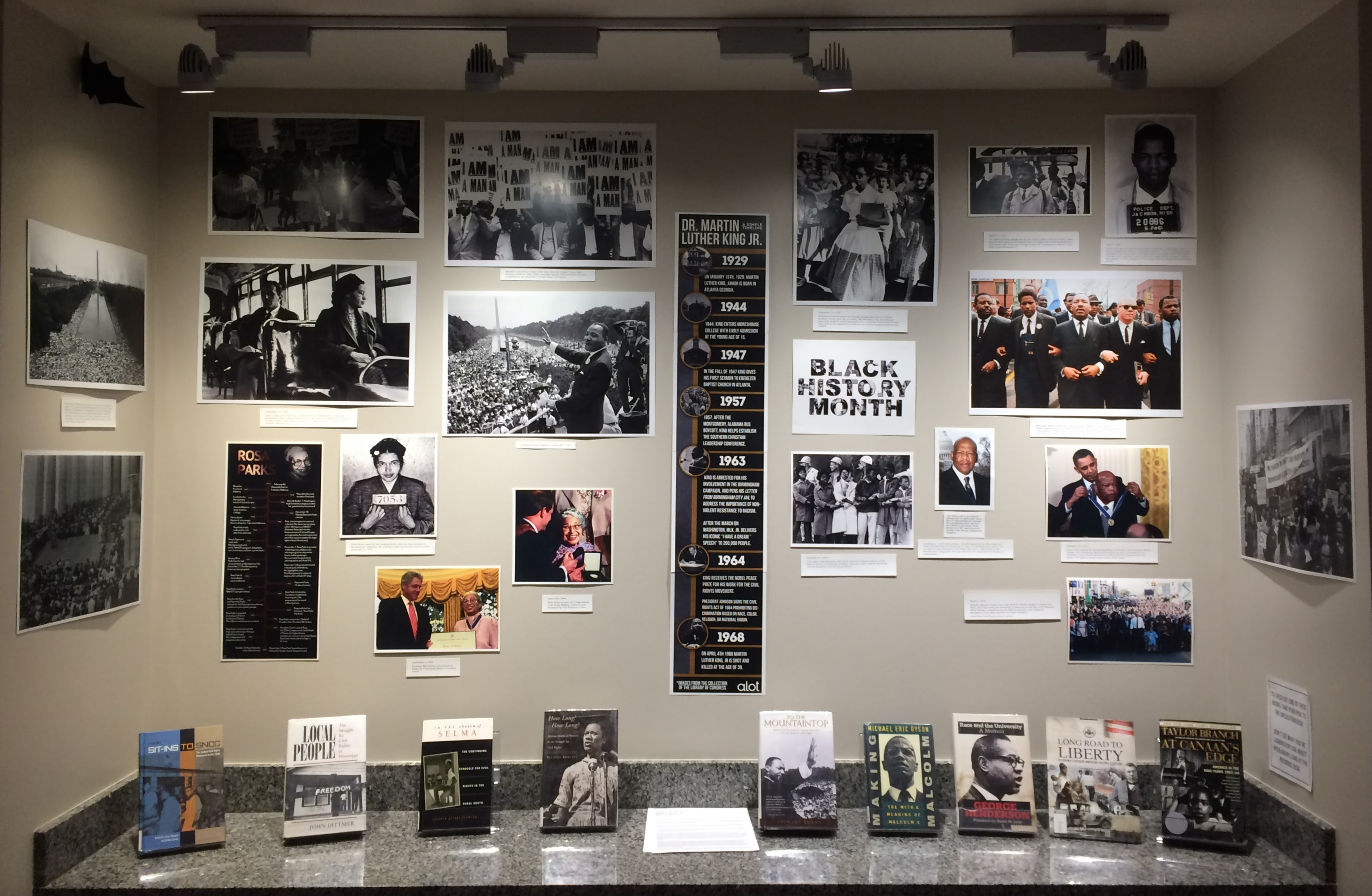 Rose State College Civil Rights Book Display