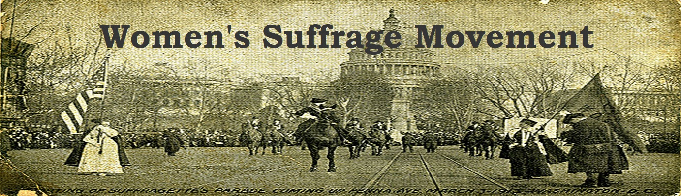 Women's Suffrage Movement post card