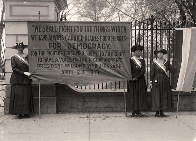 Suffrage Protest Wilson