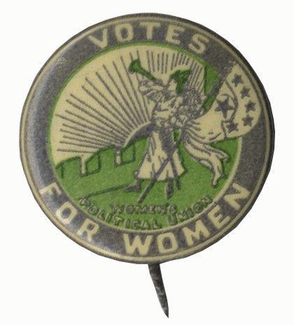 Women's Suffrage Clarion Button 1912