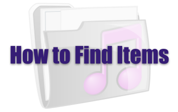 How to Find Items