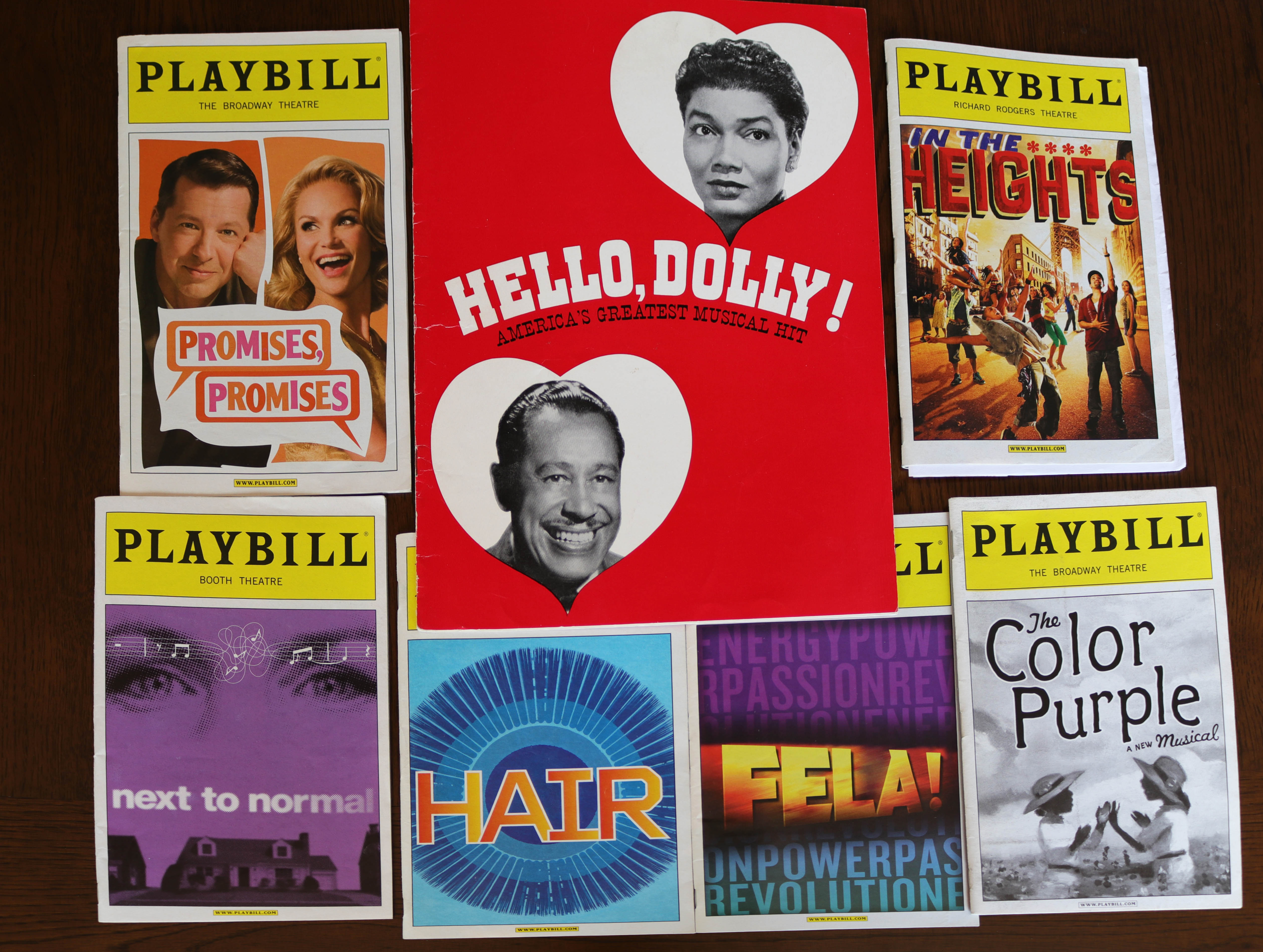 Playbills and program that are part of the ML/BSSA Collection
