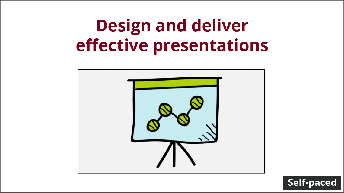 """A presentation with a line graph. Timestamp is """"self-paced""""."""