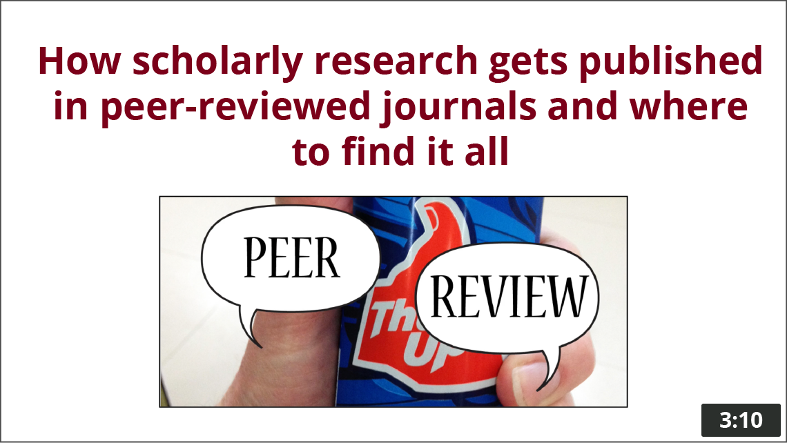 Thumbs up Peer Review thumbnail, timestamp 3:10