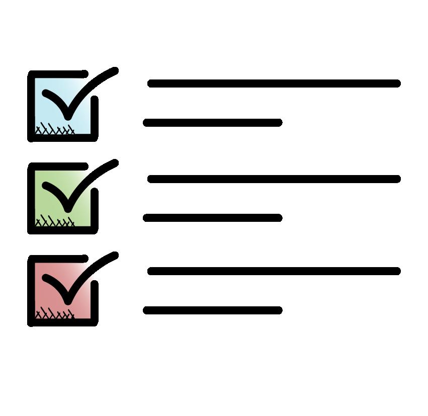 Icon of a checklist.