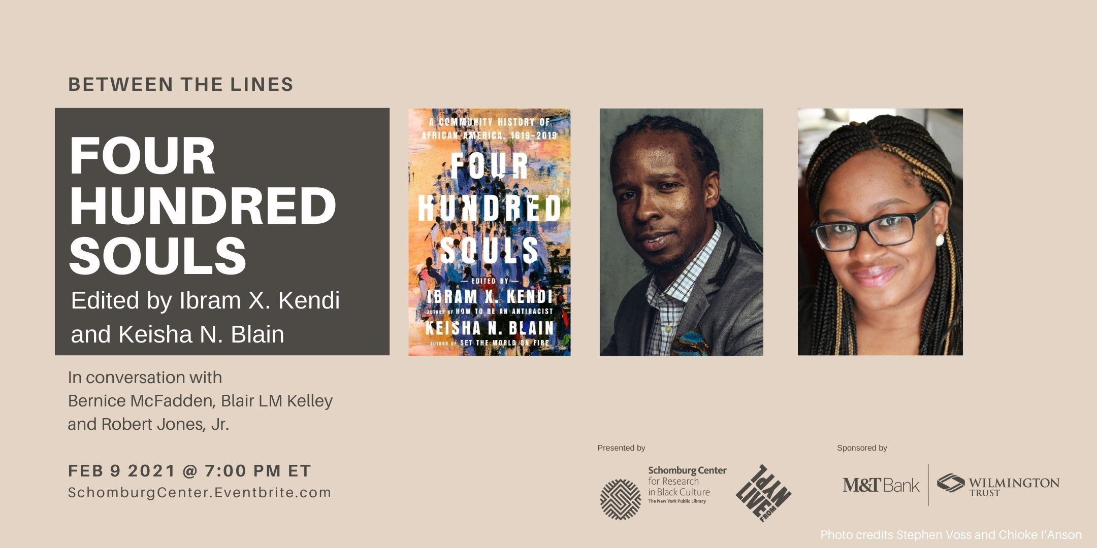 Between the Lines, Black History Month, LIVE from NYPL: Four Hundred Souls by Ibram X. Kendi and Keisha N. Blain