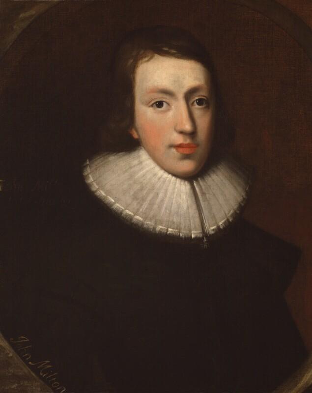 Reproduced portrait of John Milton